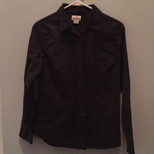 J Crew black button up shirt